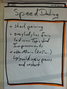 Agile Speed Dating exercise